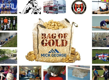 Help your favourite win £1,000 with Mick George's Bag of Gold