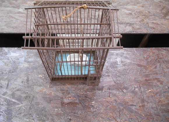 木製の鳥かご②