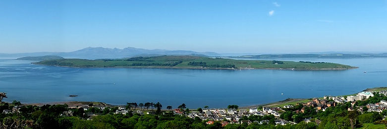 Isle of Cumbrae from Largs - copyright CP Kelly 2014
