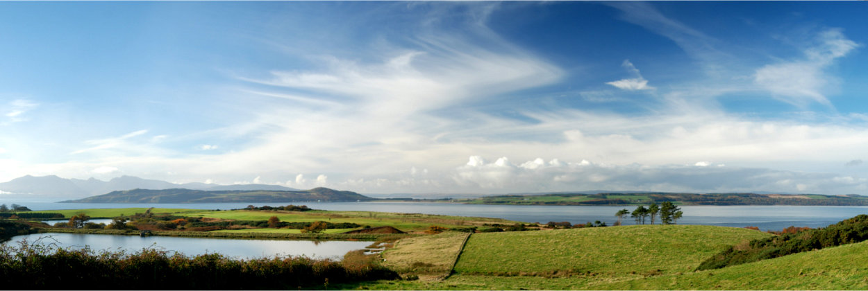 View over Millport golf course