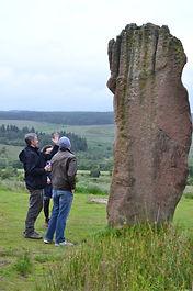 standing stone on Arran