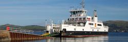CalMac ferry arriving Cumbrae slip