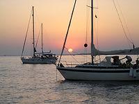 boats anchored off Arran, copyright Visit Arran