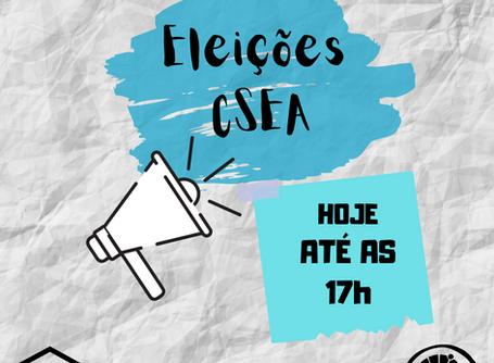 Eleições CSEA - Hoje (14/08)