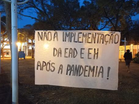 Ato no Bandejão: Contra corte de verbas e a implementação da EaD e Ensino Híbrido após a pandemia!