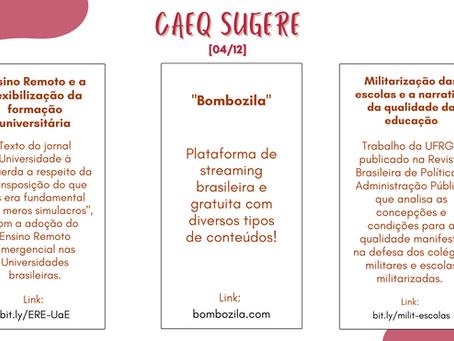 CAEQ Sugere - 04/12