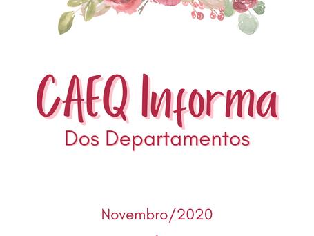 CAEQ Informa dos departamentos: Novembro de 2020