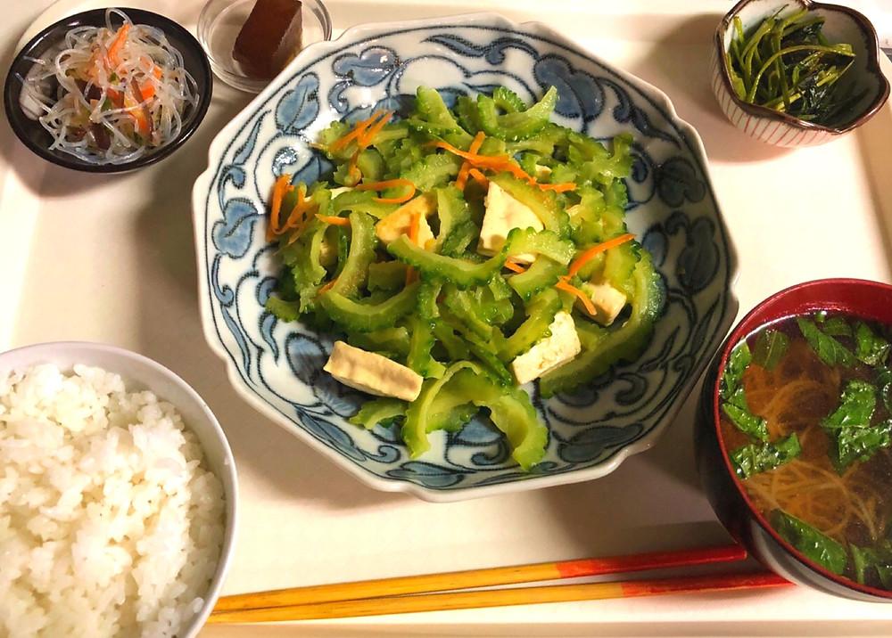ゴーヤちゃんぷる Vegan Okinawa Goya
