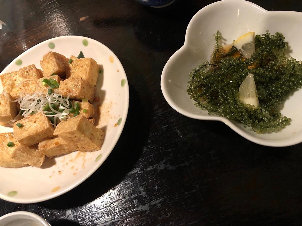 島豆腐 海ぶどう Okinawa Food