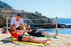 Pilates am Strand