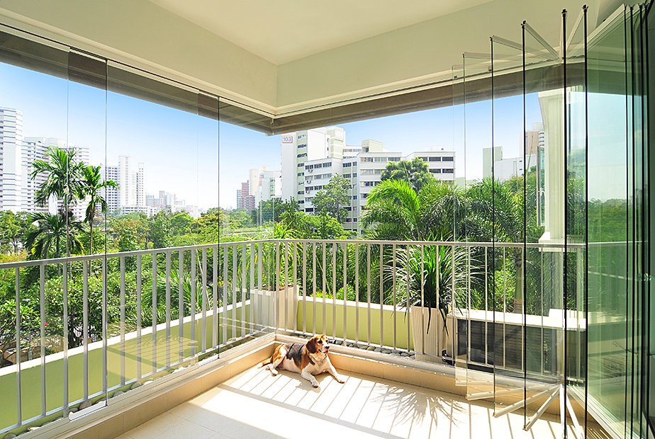 Glass Curtains 174 Frameless Sliding Glass Balcony Patio