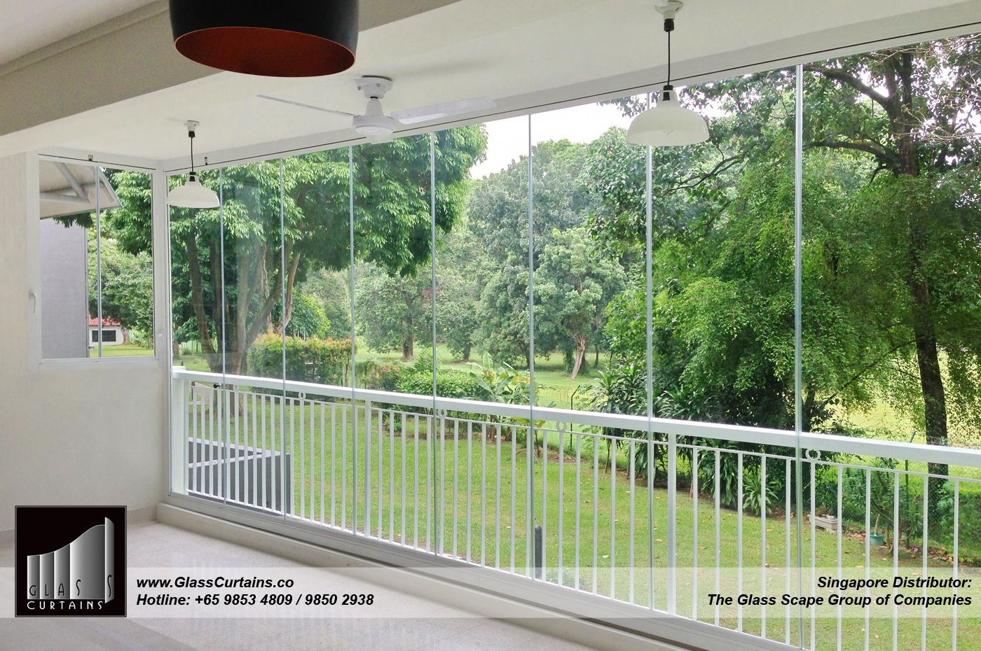 Curtain For Balcony: Glass Curtains®