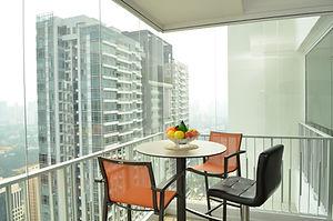 frameless glass doors windows balcony home