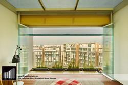 balcony frameless glass doors