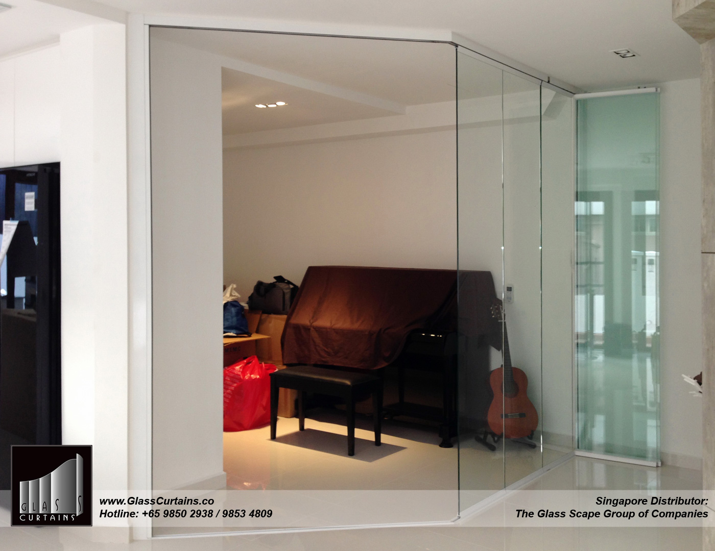 Glass Curtains® partially open