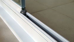 Frameless Glass Curtains® slide easily and quietly.