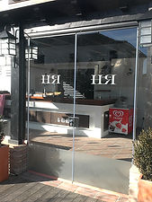 frameless glass doors windows shop office