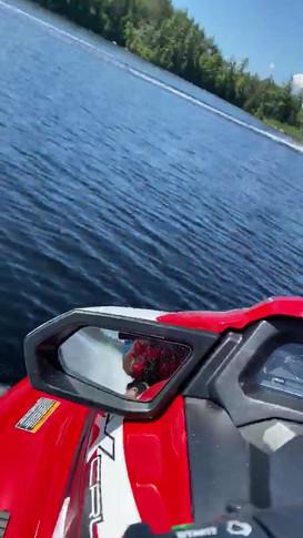 Jet Ski Through Saranac Lake Island