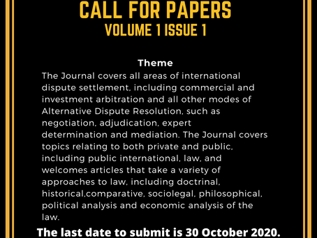 Call for Papers: IJADR : Submit by October 30 (No Publication Fee