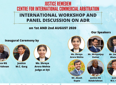 Justice Remedem International workshop and Panel Discussion on ADR (1st -2nd August)