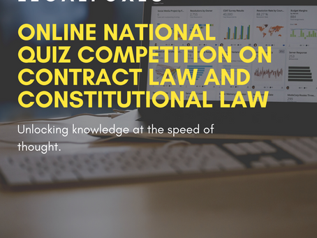 Legal Foxes 12th Online National Quiz Competition on Contract Law and Constitutional Law [May 8-9]