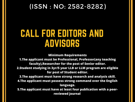 Call for Editors: International Journal of Alternative Dispute Resolution Applications Open