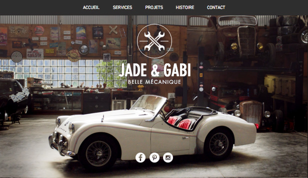 Voitures et Transports website templates – Garage Vintage
