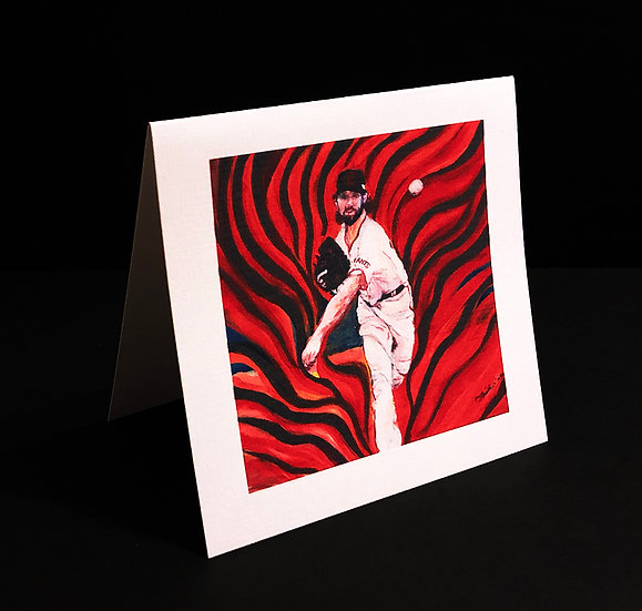 """Art (Greeting) Card of """"On Fire"""""""