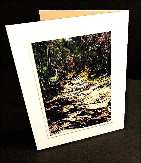 "Art (Greeting) Card of ""Ojai Landscape 22"""