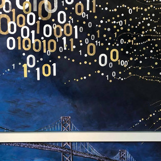 Mural at Salesforce Tansit Center, SF