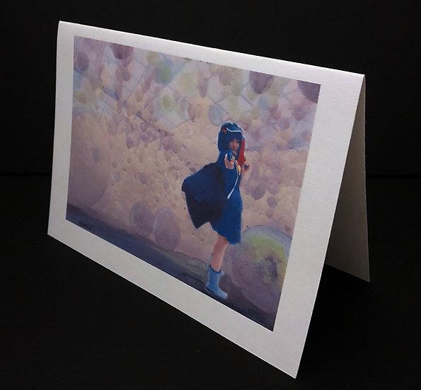 "Art (Greeting) Card of ""Cosplay Girl I"""
