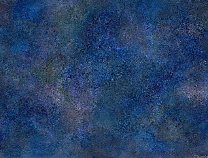 Abstract painting. Watercolor on paper. This series of paintings explores microcosms as vast as the universe.