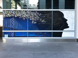 Mural at Salesforce Transit Center on Minna Street between 1st & 2nd Streets, San Francisco