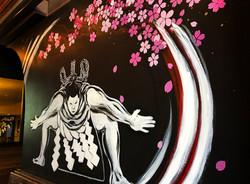 Mural at Ozumo Santana Row, San Jose, CA