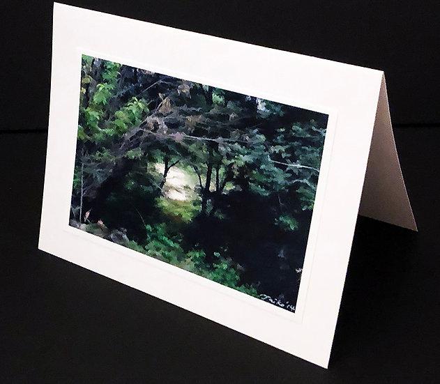"Art (Greeting) Card of ""Ojai Landscape 23"""