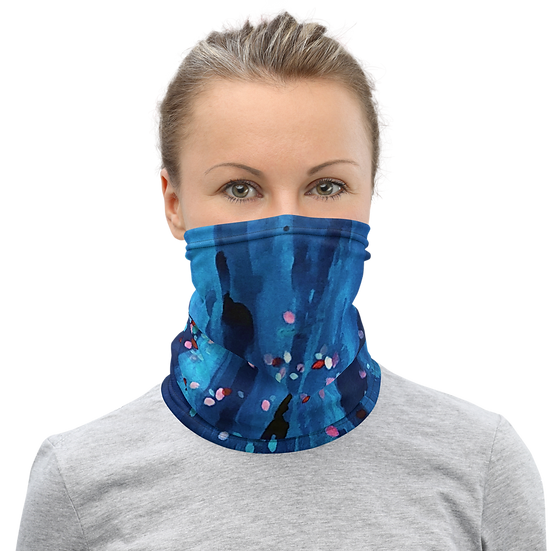 """This """"Leaves 73 - Symphony"""" all-over-neck gaiter is versatile!"""