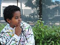 portrait of boy photographer
