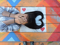 girl covering face