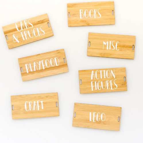 2-Hole Acrylic/Wooden Tags (with label)