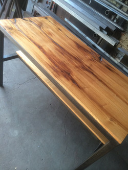 Spalted Ash topped Kitchen Island