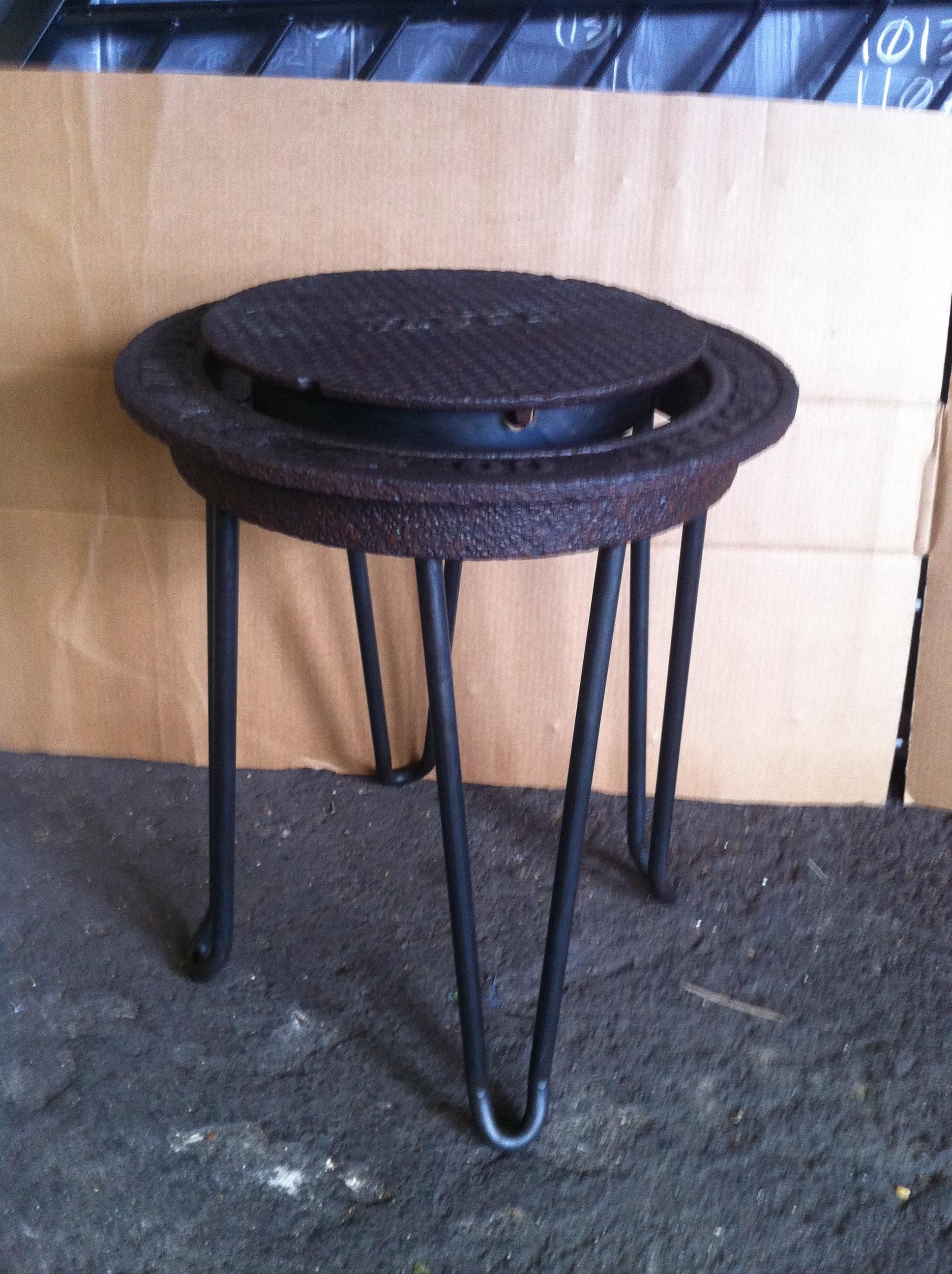 Manhole End Table