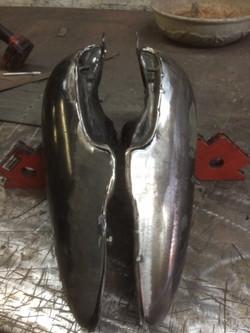 Cut-down Harley Split Tank