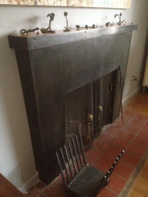 Steel Fireplace w/ Bowling Alley Top