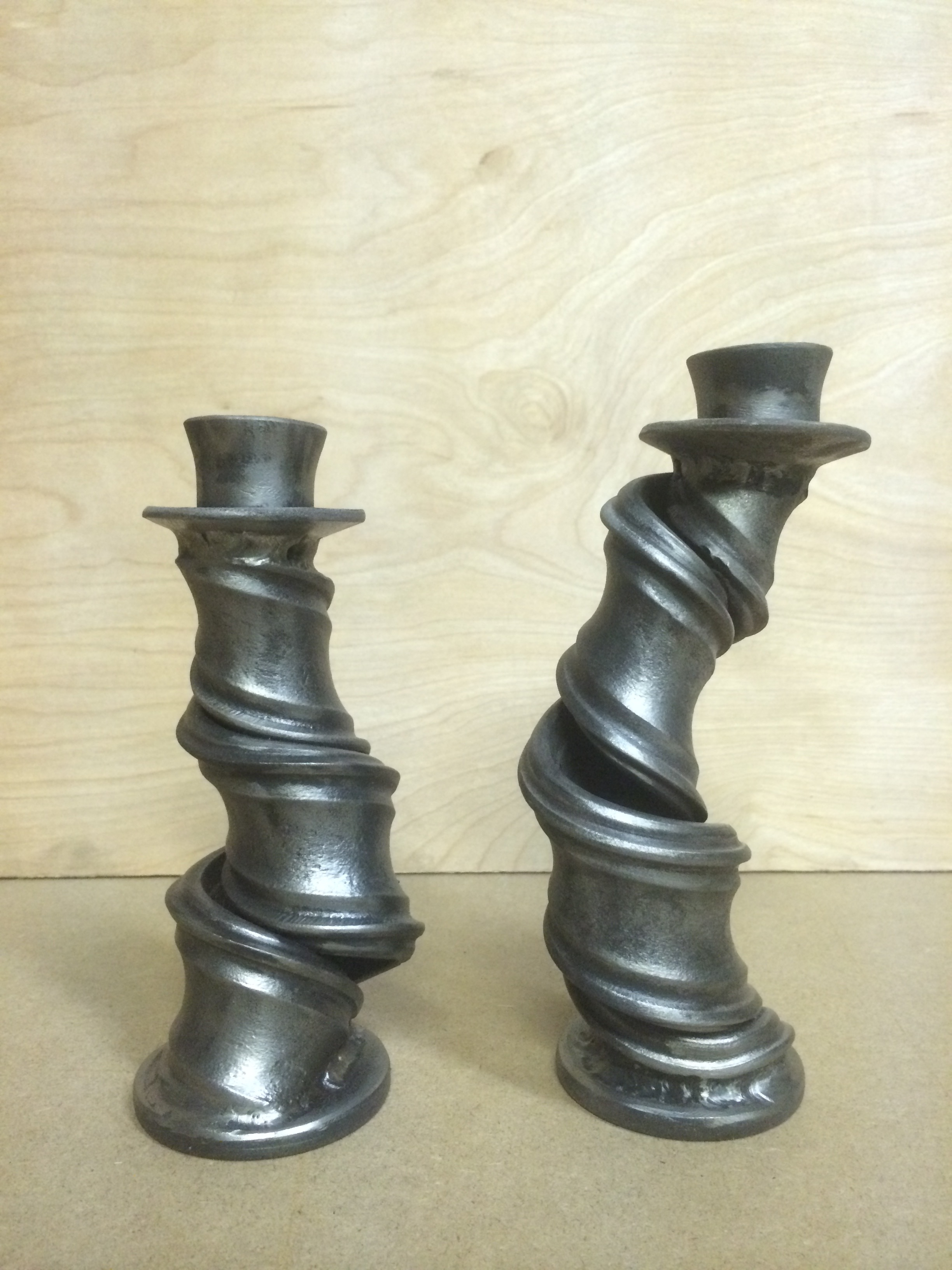 Forged Candle Holders