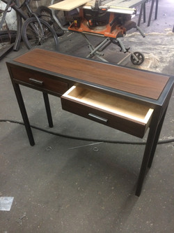 Epi Wood & Steel Console Table