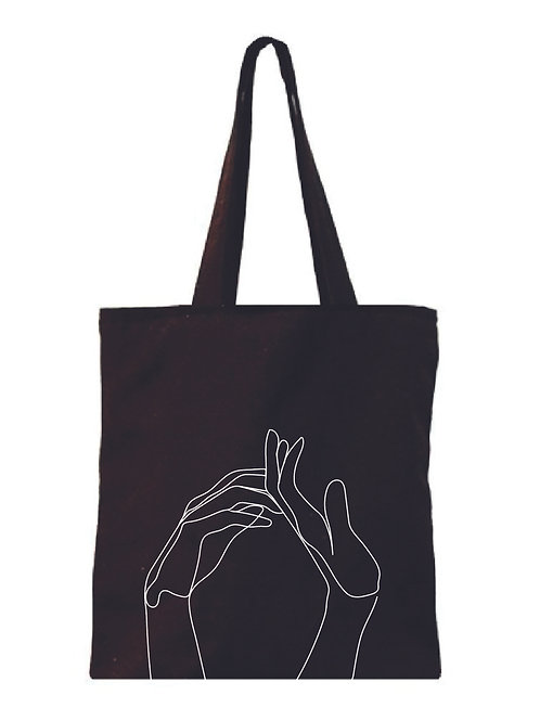 Give Me A Hand Canvas Tote