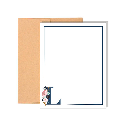 Floral & Fauna Monogrammed Note Cards
