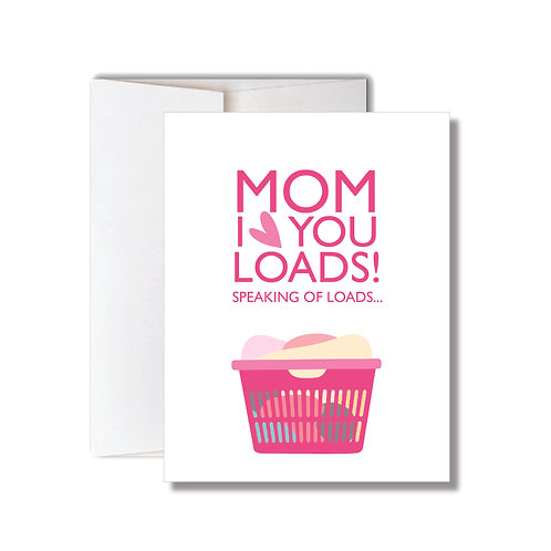 LAUNDRY MOTHER'S DAY CARD