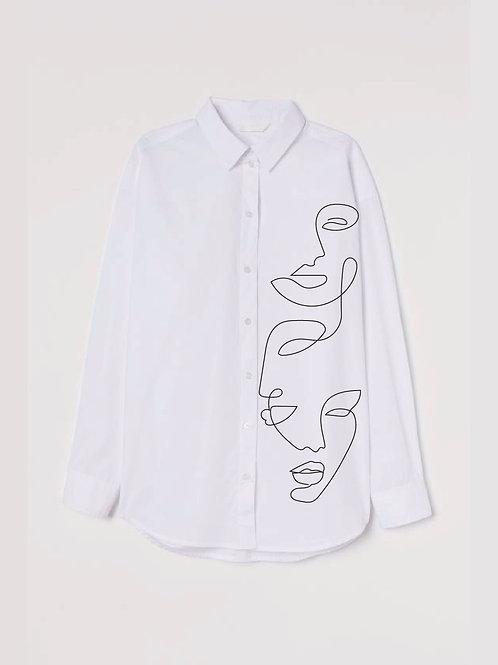 Sisters Oversized Poplin Shirt