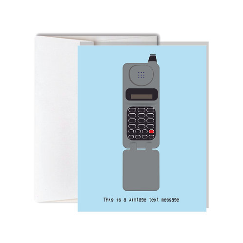 Vintage Text Message Just Because Card